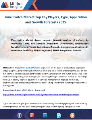 Time Switch Market Top Key Players, Type, Application and Growth Forecasts 2025