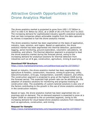 Attractive Opportunities in Global Target Drones Market to 2022.