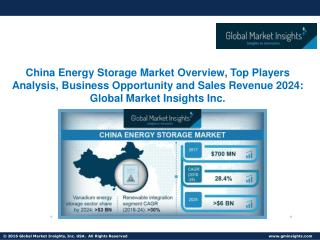 China Energy Storage Market Research Findings, Market Growth Factors Analysis and Forecasts 2024