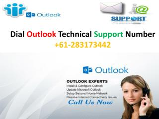 Call at Outlook Customer Support Number 61-283173442 and get instant solution