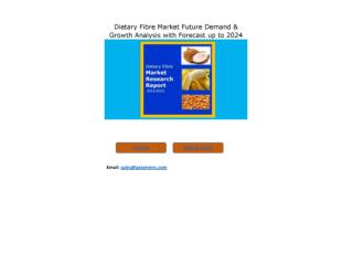 Dietary Fibre Market Competitive Dynamics & Global Outlook 2024