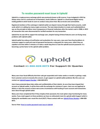 Resolve Uphold technical Issue with best experts
