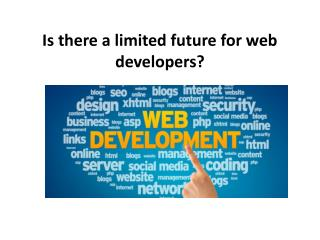 Is there a limited future for web developers?