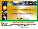 The National Energy Bill