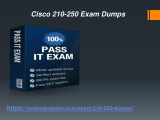 Latest Cisco 210-250 exam dumps