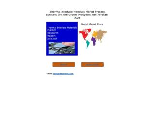Thermal Interface Materials Market Growth Rate, Developing Trends, Manufacturers, Countries and Application, Global Fore