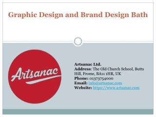 Graphic Design and Brand Design Bath – Best Service Provider