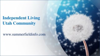 Gain Control Over Your Dreams At Our Independent Living Utah Community