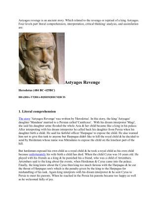 Astyage's Revenge story
