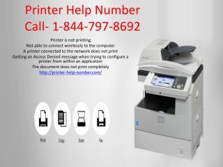 Printer Help Number 844-797-8692