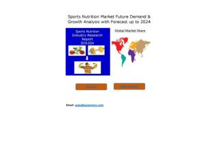Sports Nutrition Market Present Scenario and the Growth Prospects with Forecast 2024