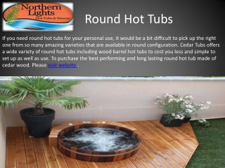 Buy Best Qaulity Round Hot Tubs