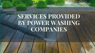 Professional Power Washing Services
