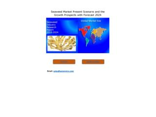Seaweed Market Growth Rate, Developing Trends, Manufacturers, Countries, Type and Application, Global Forecast To 2024