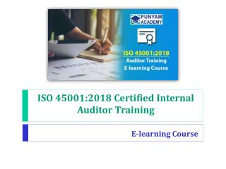 ISO 45001 certified internal auditor training e-learning course