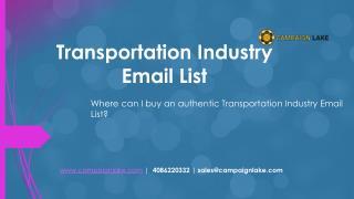 TRANSPORTATION INDUSTRY EMAIL LIST