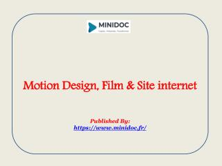 Motion Design, Film & Site internet