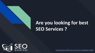 Are you looking for Top SEO Company in Madurai   SEO Warriors