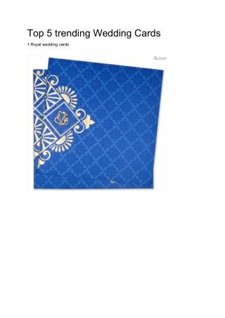 top 5 wedding cards design