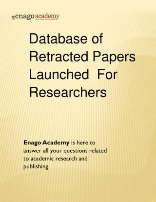 Database of Retracted Papers Launched For Researchers - Enago Academy (1)