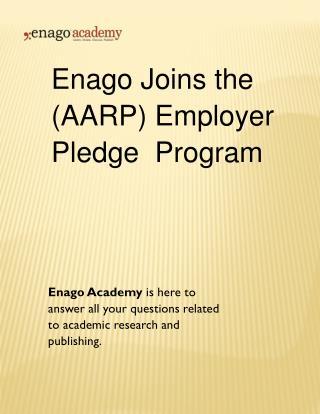 Enago Joins the (AARP) Employer Pledge Program - Enago Academy (1)
