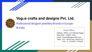 Ultimate Designer Jewellery Is Available Here | voguecrafts
