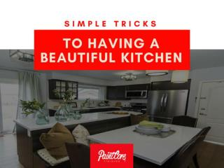 Simple Tricks to Having a Beautiful Kitchen