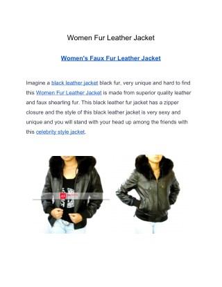 Women Fur Leather Jacket