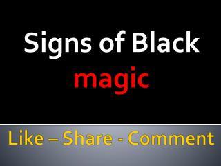 Symptoms of Black Magic