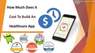 How Much Does It Cost To Build An Healthcare App