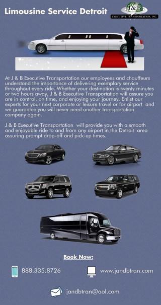 Limousine Service Detroit - J and B Executive Transportation