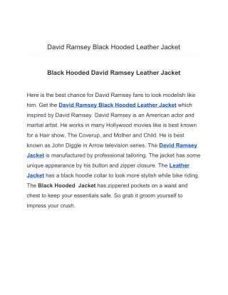 David Ramsey Black Hooded Leather Jacket
