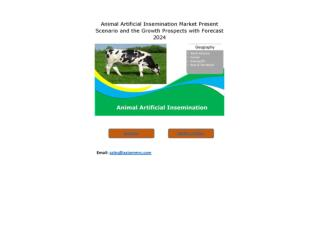 Animal Artificial Insemination Market Growth Rate, Developing Trends, Manufacturers, Countries and End User, Global Fore