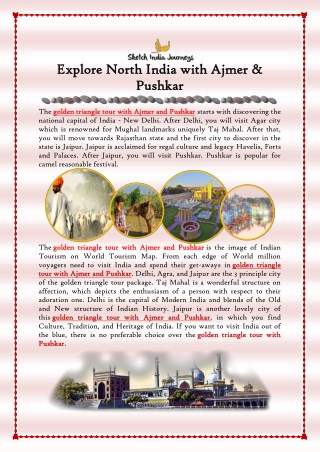 Explore North India with Ajmer & Pushkar
