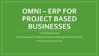 ERP For Project Based Businesses | construction-erp.com