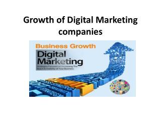 Growth of Digital Marketing Companies