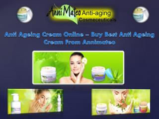 Anti Ageing Cream Online – Buy Best Anti Ageing Cream From Annimateo