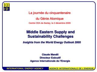 M iddle Eastern Supply and Sustainability Challenges Insights from the World Energy Outlook 2005
