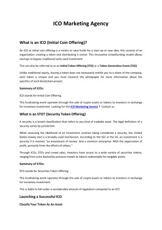 Blockchain Marketing Agency