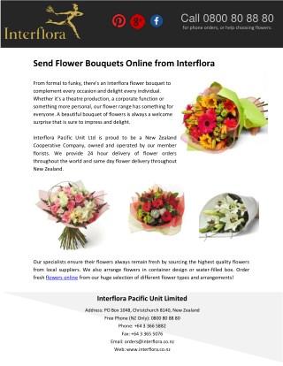 Send Flower Bouquets Online from Interflora