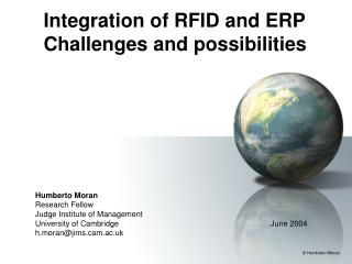 Integration of RFID and ERP Challenges and possibilities