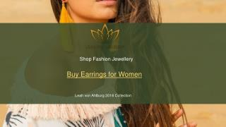 Shop Designer Earrings for Women - Leah Von Ahlburg
