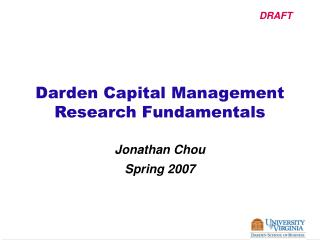 Darden Capital Management Research Fundamentals