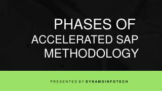 Phases of Accelerated SAP Methodology