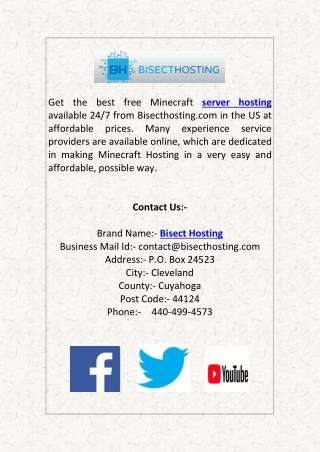 Get Free Minecraft Server Hosting 24/7