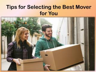 Tips to Help You Hire the Best Movers for Your Move