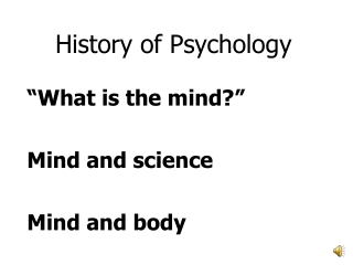 General theory and history