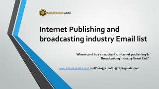 INTERNET PUBLISHING AND BROADCASTING INDUSTRY EMAIL LIST