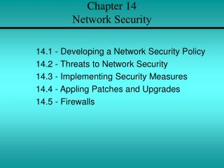 Chapter 14 Network Security