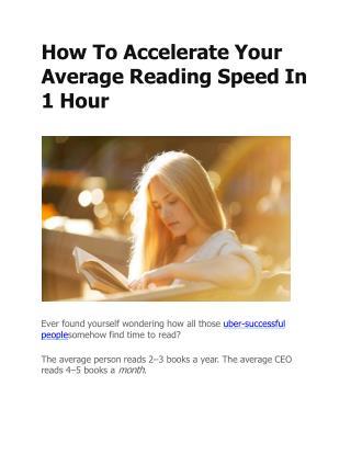 Average Reading Speed